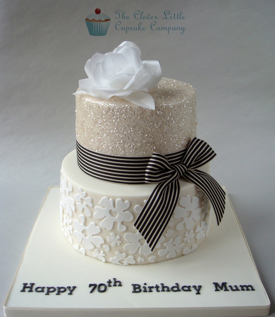 Best ideas about 70th Birthday Cake Ideas . Save or Pin Glittery 70Th Birthday Cake CakeCentral Now.