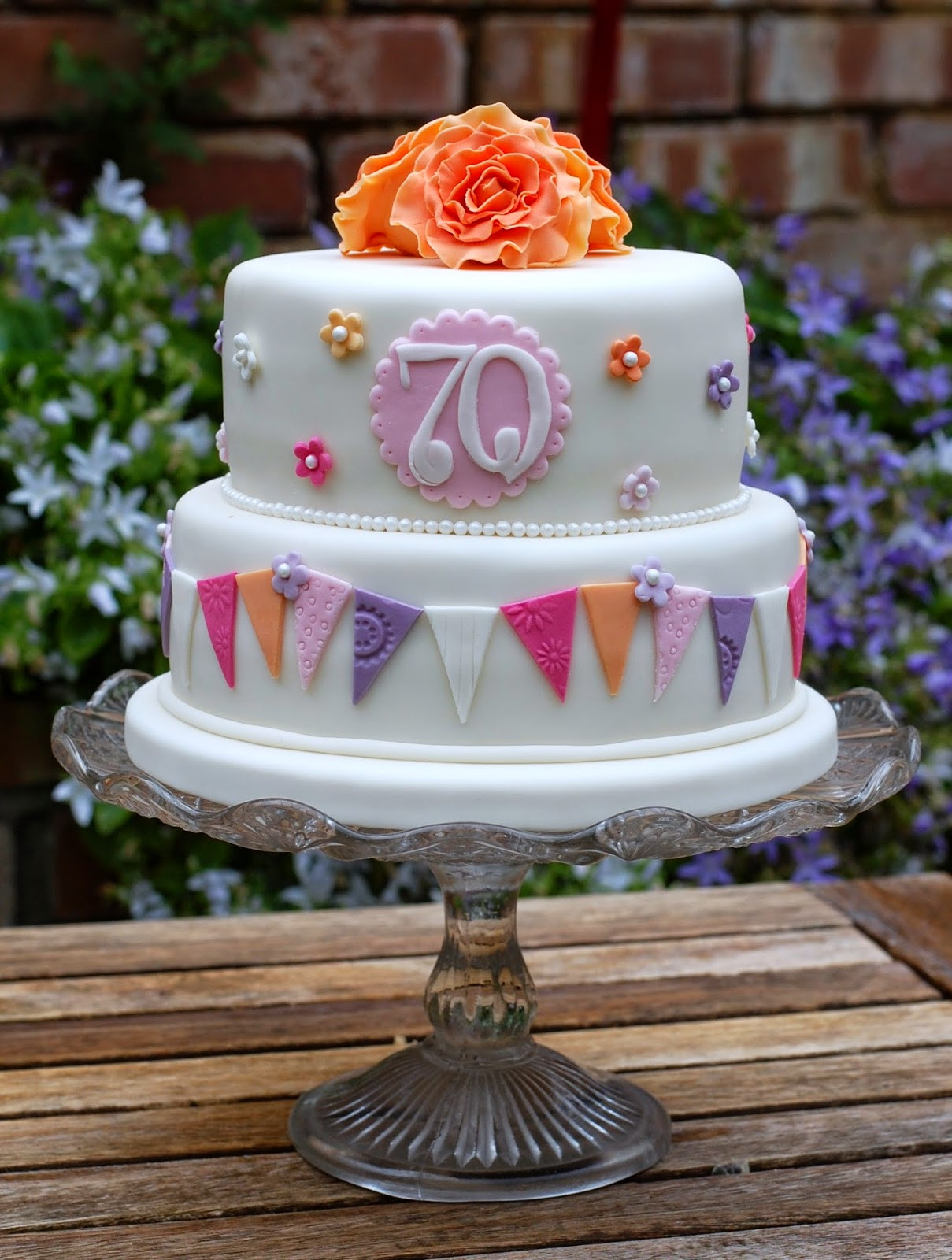 Best ideas about 70th Birthday Cake Ideas . Save or Pin Vanilla Frost Pretty 70th Birthday Cakes Now.