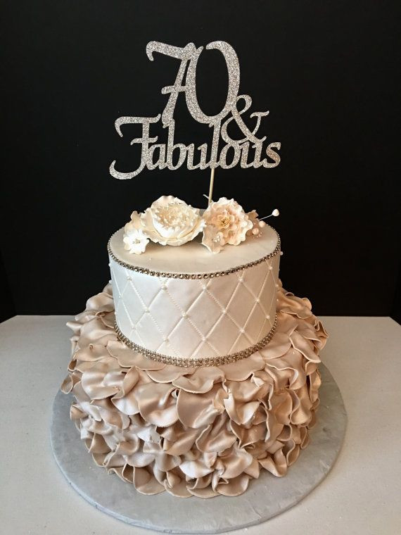 Best ideas about 70th Birthday Cake . Save or Pin ANY NUMBER Gold Glitter 70th Birthday Cake Topper 70 and Now.