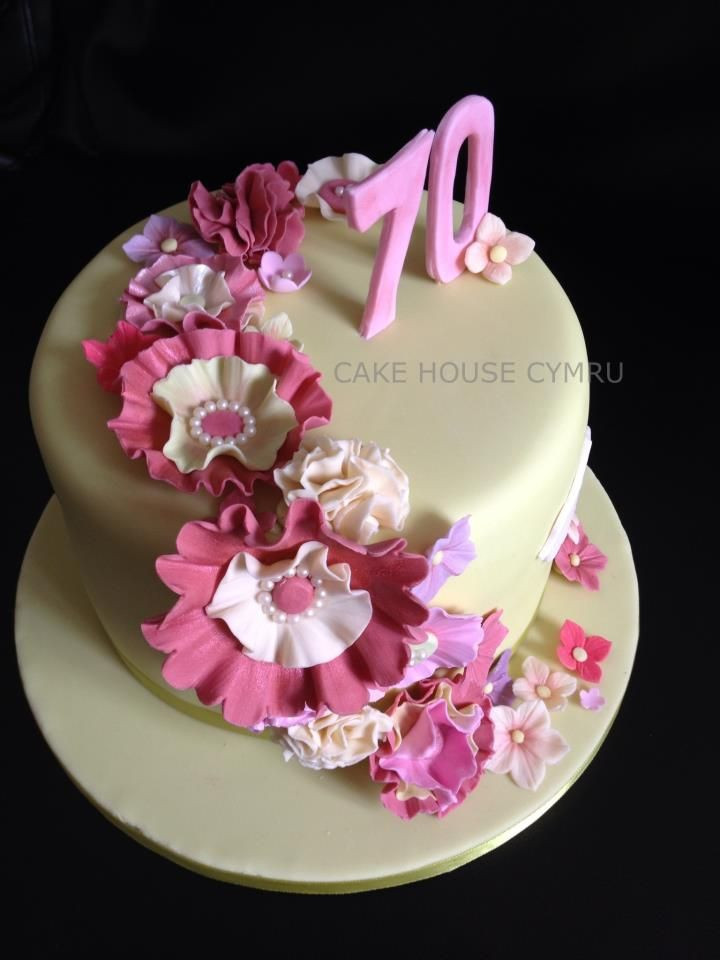 Best ideas about 70th Birthday Cake . Save or Pin 70th Birthday Cake vintage green and pink cake Now.