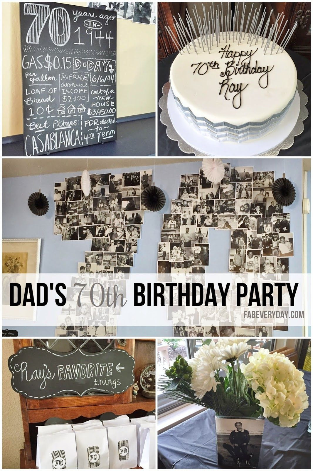 Best ideas about 70th Birthday Celebration Ideas . Save or Pin Easy 70th birthday party ideas Planning my Dad s Now.