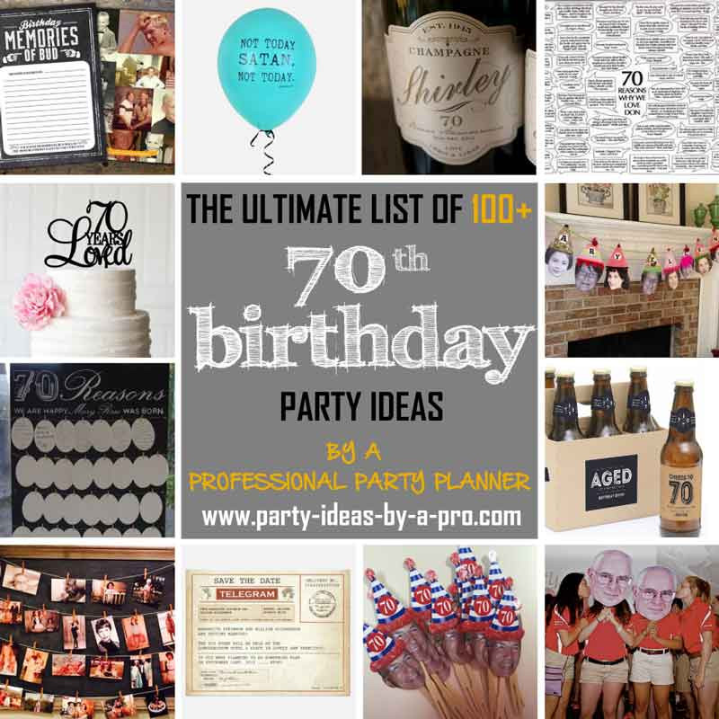 Best ideas about 70th Birthday Celebration Ideas . Save or Pin 100 70th Birthday Party Ideas—by a Professional Party Planner Now.
