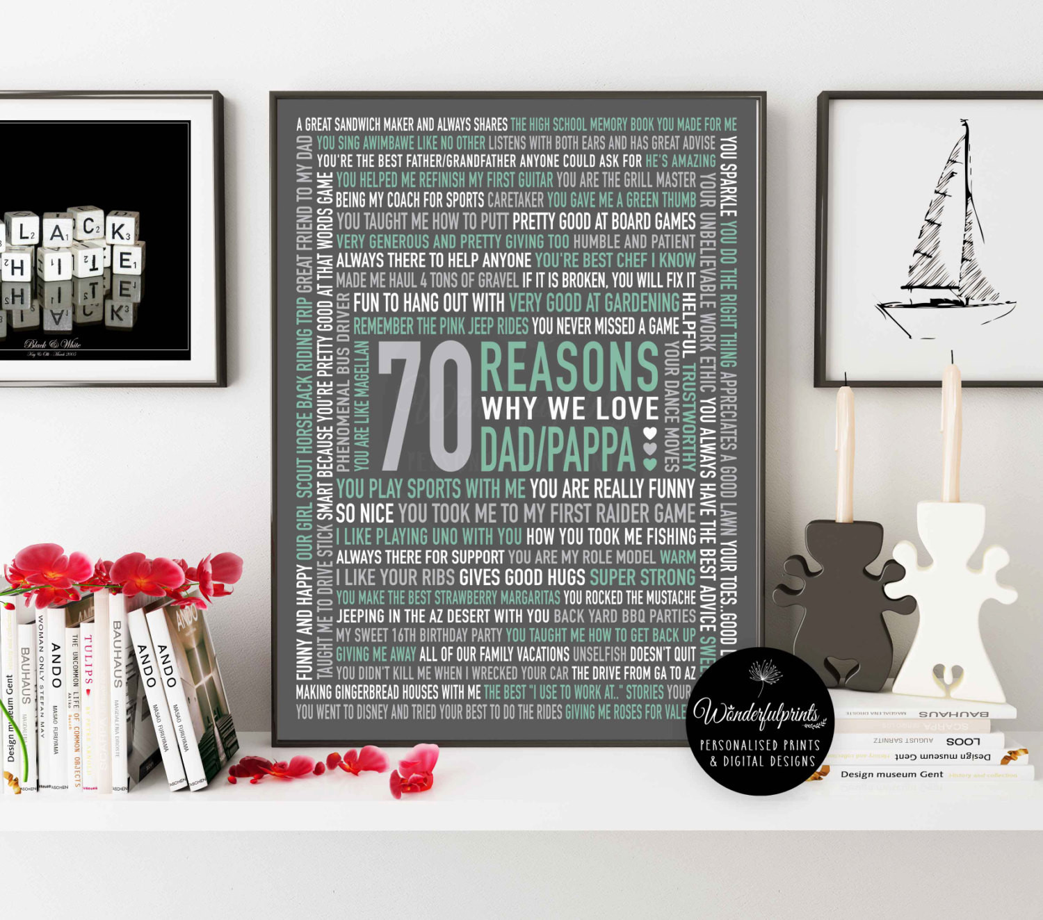 Best ideas about 70Th Birthday Gift Ideas For Dad . Save or Pin 70 REASONS We Love Dad 70th Birthday Gift For HIM For Now.
