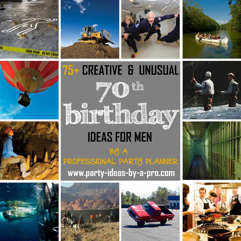 Best ideas about 70Th Birthday Gift Ideas For Men . Save or Pin 75 Creative 70th Birthday Ideas for Men —by a Now.