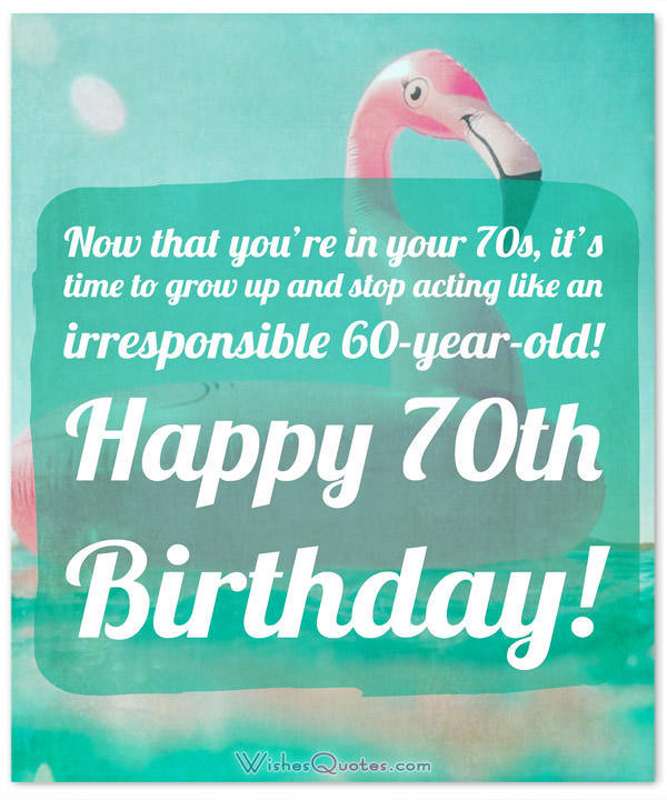 Best ideas about 70th Birthday Quotes . Save or Pin 70th Birthday Wishes and Birthday Card Messages Now.