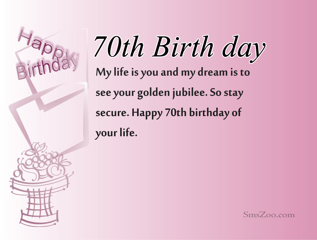 Best ideas about 70th Birthday Quotes . Save or Pin 70th Birthday Wishes For Dad Mom Husband Boss Grandma Now.