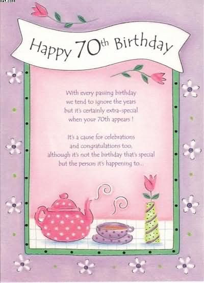 Best ideas about 70th Birthday Quotes . Save or Pin 70th birthday cards 400×556 pixels Craft Now.