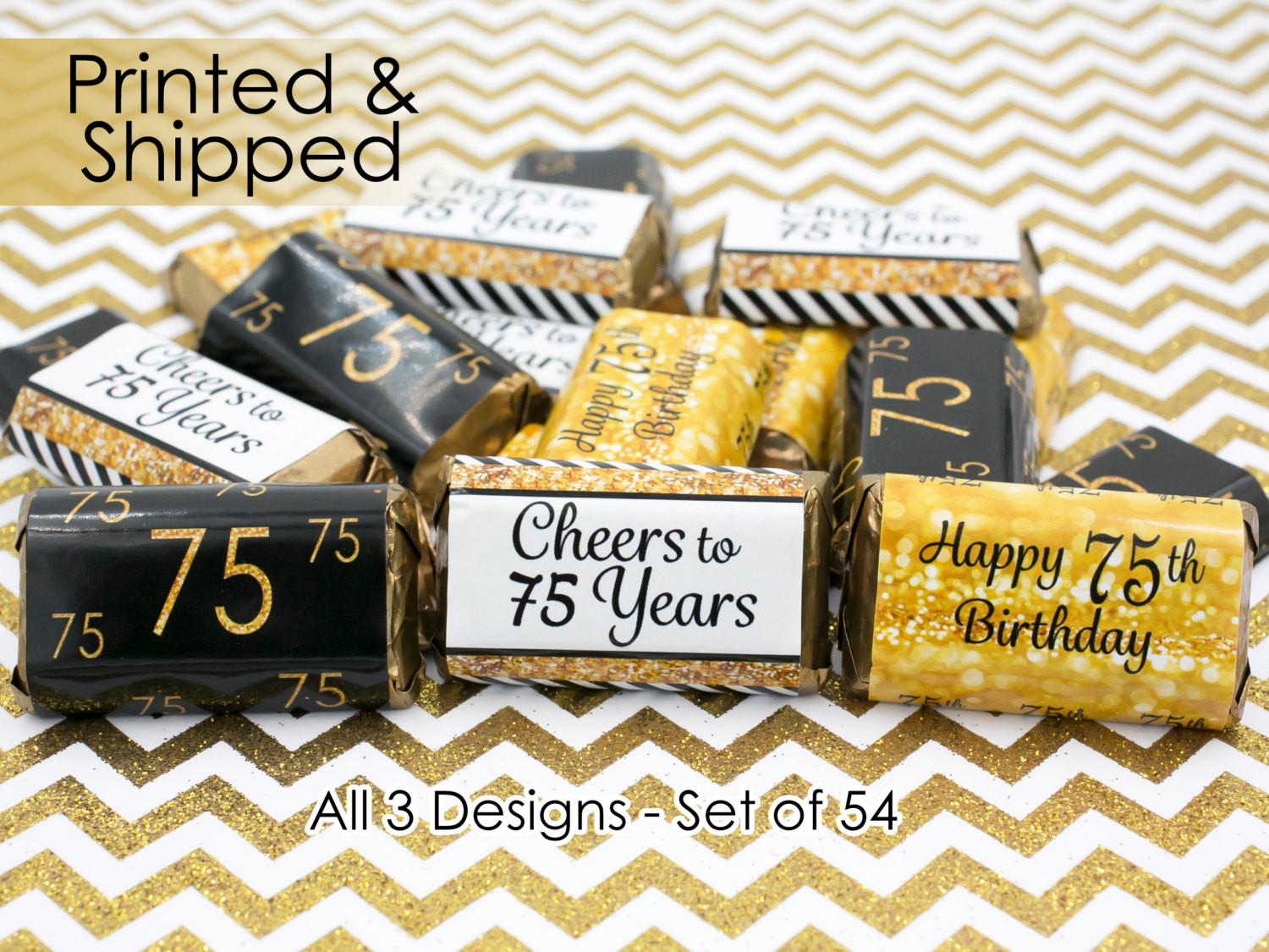 Best ideas about 75th Birthday Party Favors . Save or Pin 75th Birthday Party Decorations Gold & Black by Distinctivs Now.