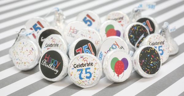 Best ideas about 75th Birthday Party Favors . Save or Pin Multi Colored 75th Birthday Party Favor Stickers Set of Now.