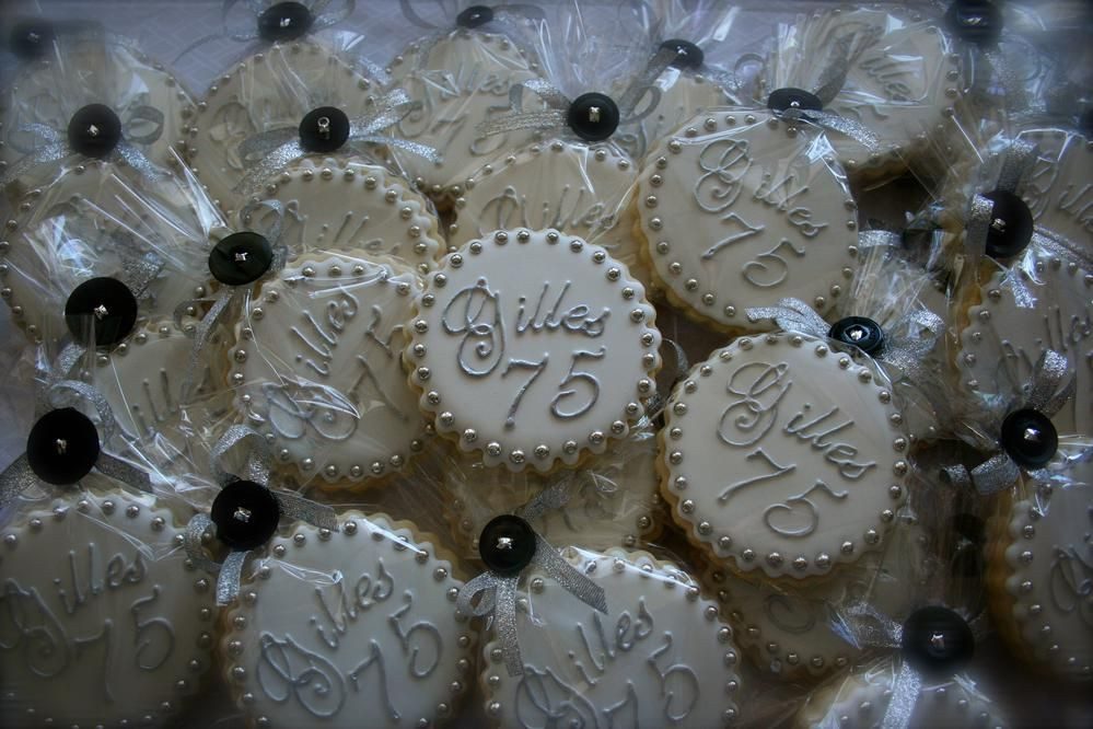 Best ideas about 75th Birthday Party Favors . Save or Pin 75th birthday party favor Cookie Connection Now.
