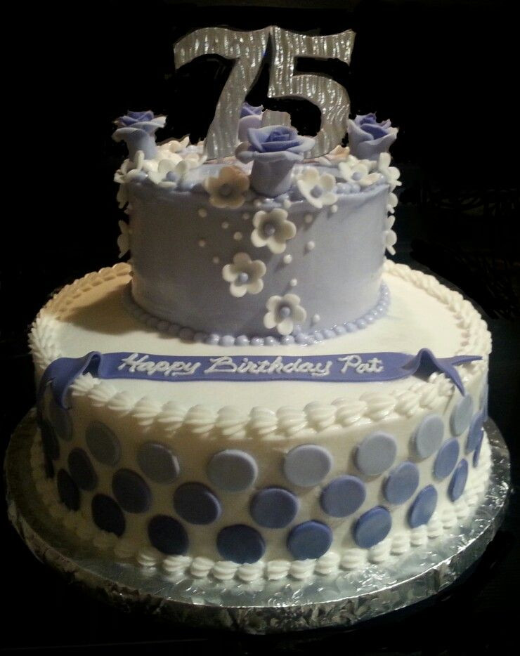 Best ideas about 75th Birthday Party Ideas . Save or Pin 75th birthday cake My cakes in 2019 Now.