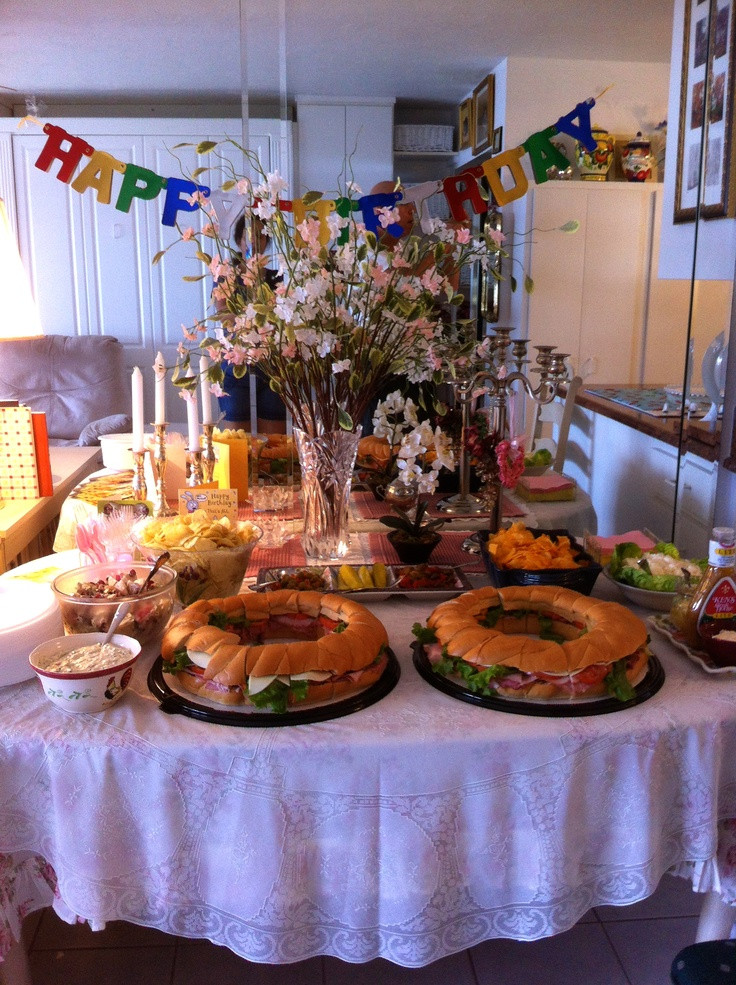 Best ideas about 75th Birthday Party Ideas . Save or Pin Buffett table for my Dads 75th birthday party Now.
