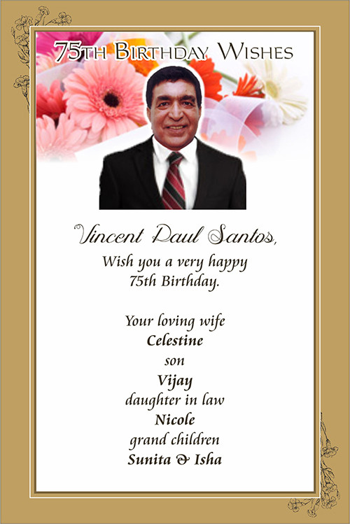 Best ideas about 75th Birthday Wishes . Save or Pin 75th Birthday Wishes Daijiworld Now.