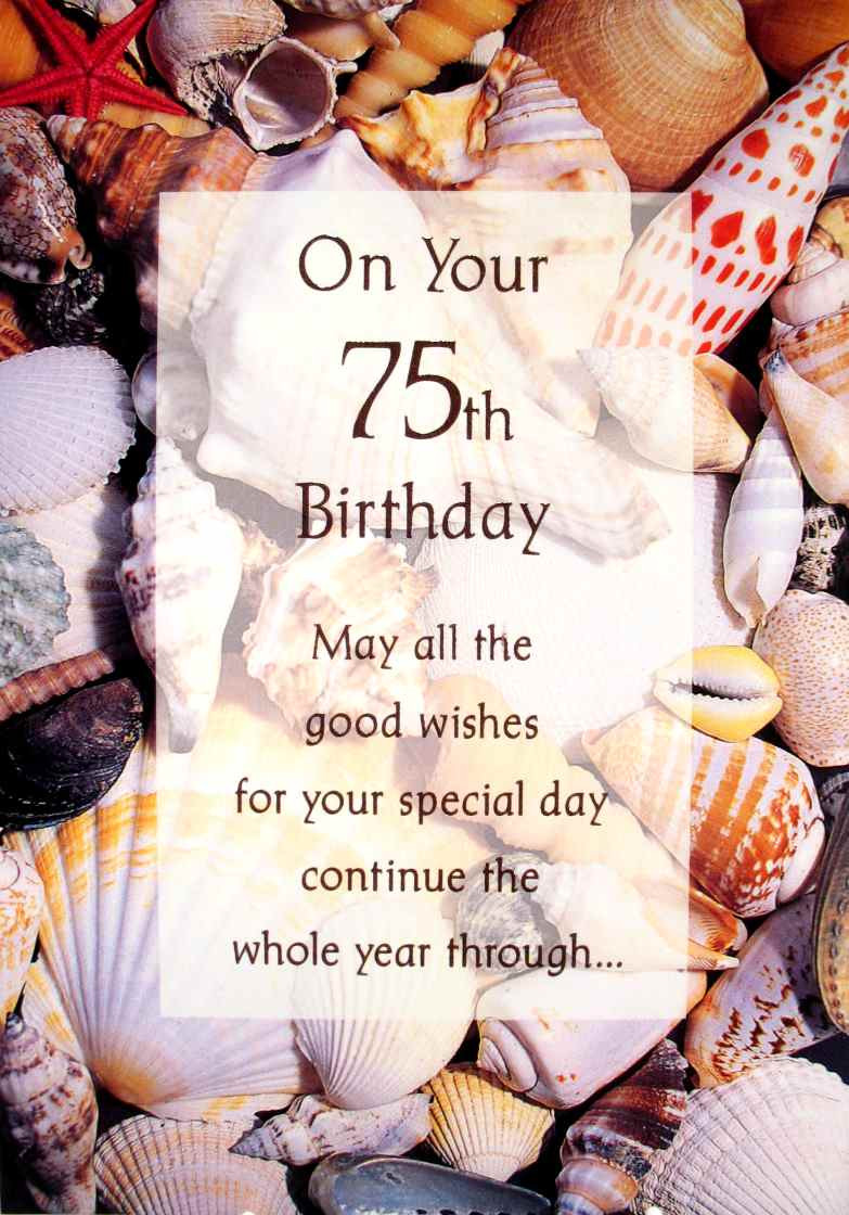 Best ideas about 75th Birthday Wishes . Save or Pin Birthday By Age Now.