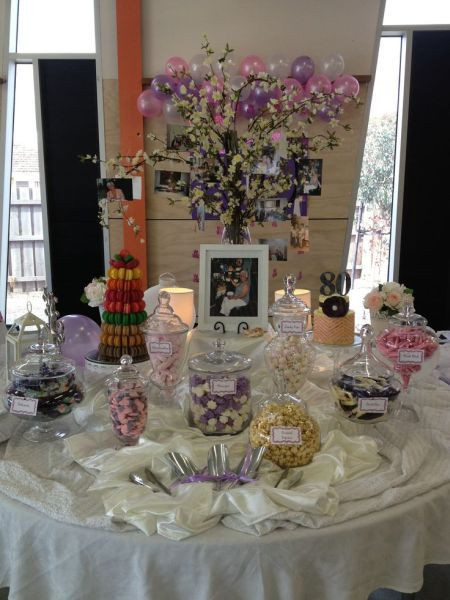 Best ideas about 80th Birthday Decor . Save or Pin A candy buffet is a sweet idea for 80th birthday party Now.