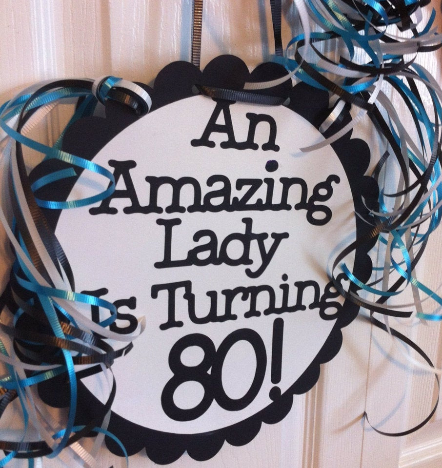 Best ideas about 80th Birthday Decor . Save or Pin 80th Birthday Decorations Giant Personalized Party Signs Now.