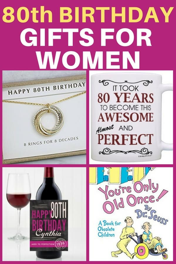 Best ideas about 80th Birthday Gift Ideas . Save or Pin 80th Birthday Gifts for Women 25 Best Gift Ideas for Now.