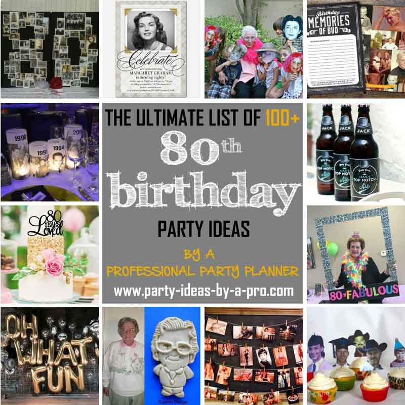 Best ideas about 80th Birthday Gift Ideas . Save or Pin 80th birthday party ideas Gift Ideas Pinterest Now.