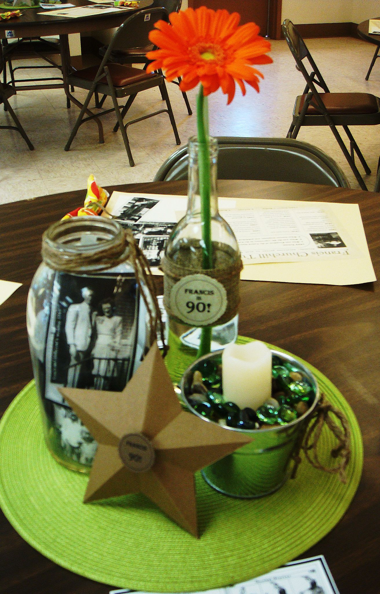 Best ideas about 80th Birthday Party Decorations For Table . Save or Pin Table decs for 90th birthday party Now.