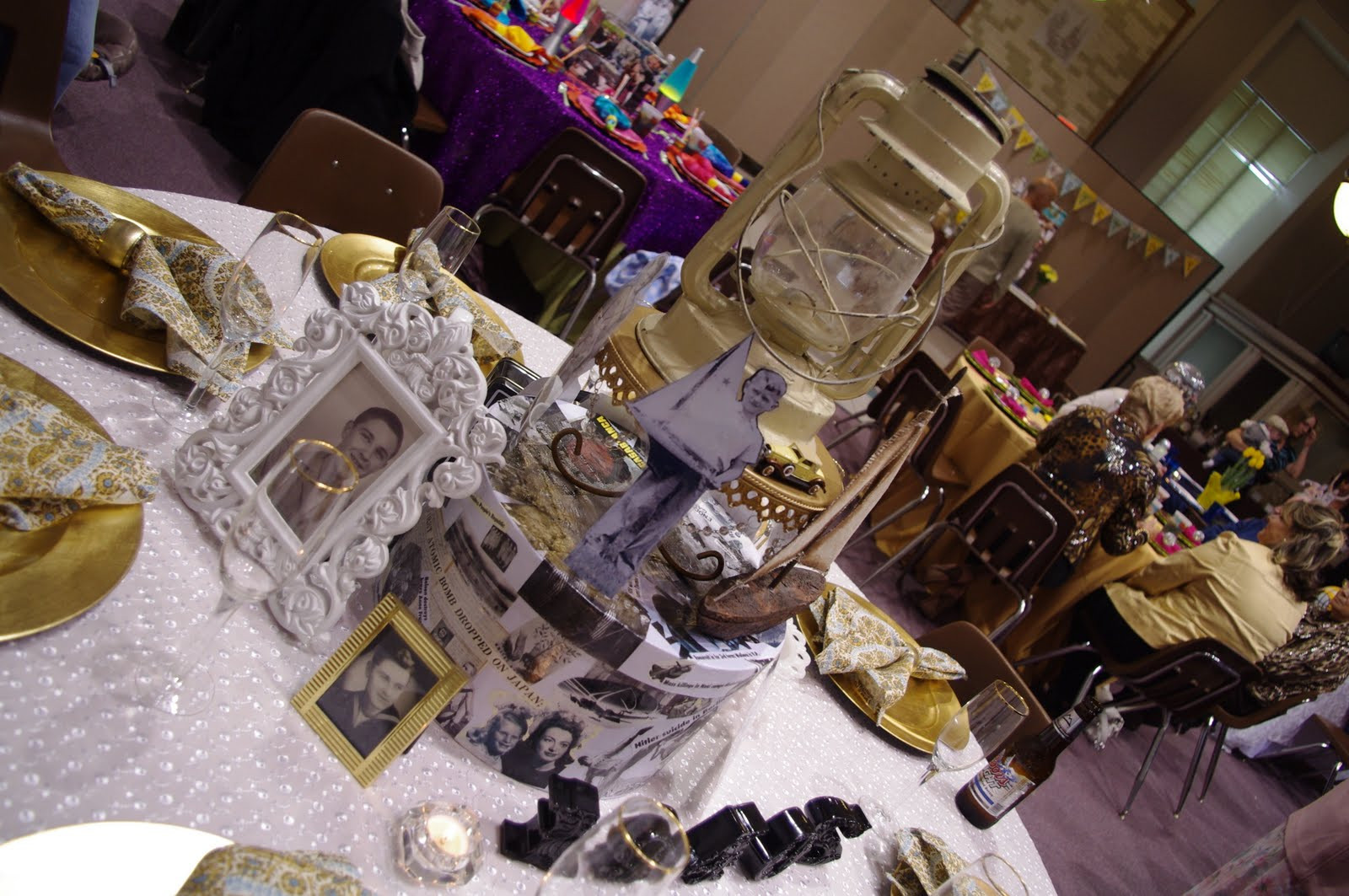 Best ideas about 80th Birthday Party Decorations For Table . Save or Pin All About the Tables My Dad s 80TH Birthday Surprise Party Now.