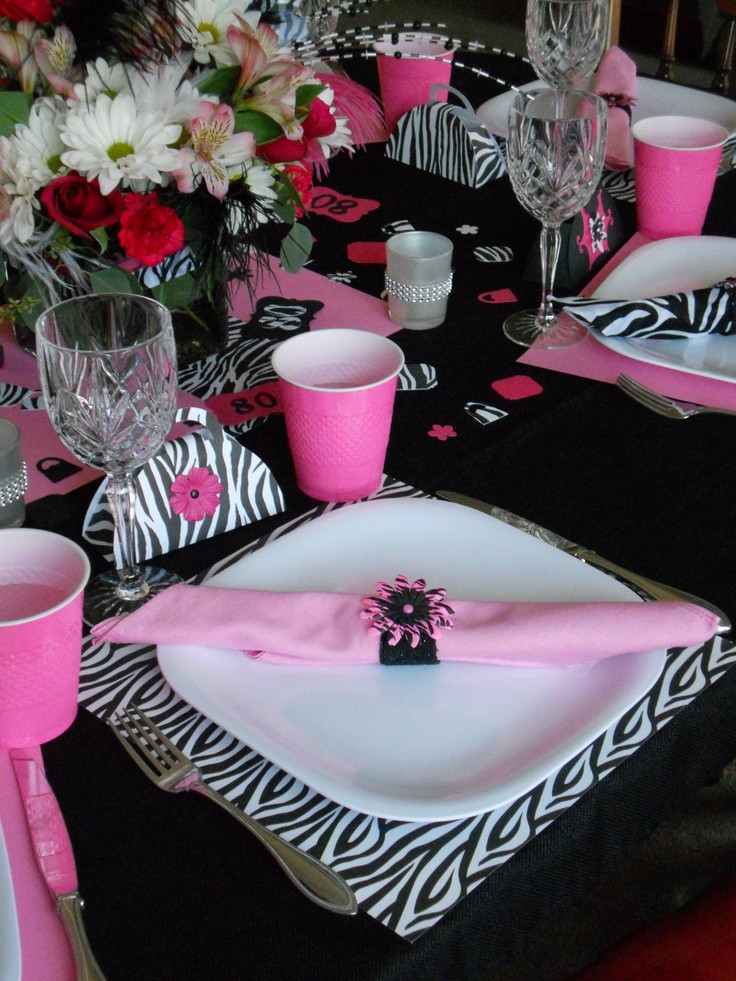 Best ideas about 80th Birthday Party Decorations For Table . Save or Pin Our table setting for Grandma s fabulous 80th birthday Now.