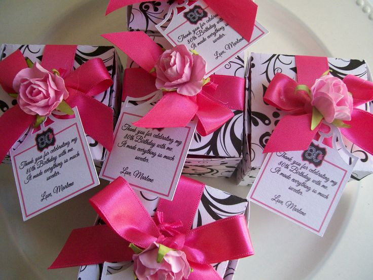 Best ideas about 80th Birthday Party Favors . Save or Pin Added Thank You notes to the 80th Birthday Party favors Now.