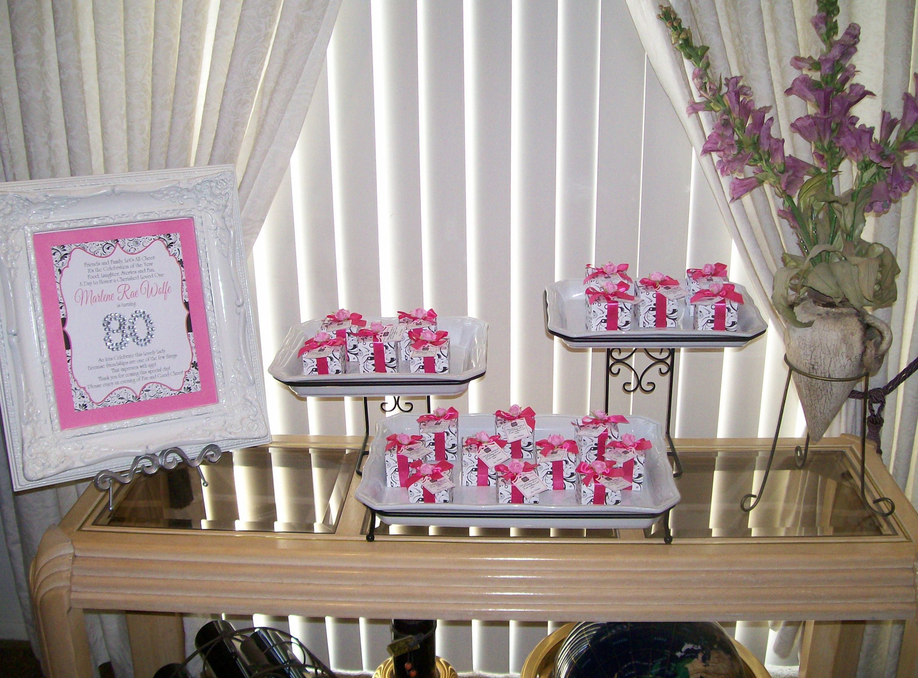 Best ideas about 80th Birthday Party Favors . Save or Pin 80th Birthday Party Favor Gift Boxes and Sign Now.