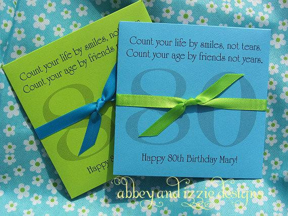 Best ideas about 80th Birthday Party Favors . Save or Pin 80th Birthday Party Favors by abbeyandizziedesigns on Etsy Now.