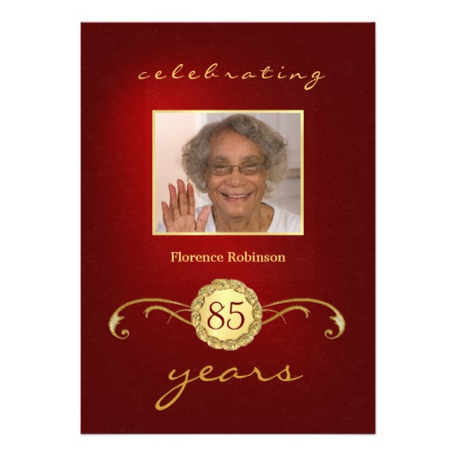 Best ideas about 85th Birthday Invitations . Save or Pin 85th Birthday Party Invitations Red Now.