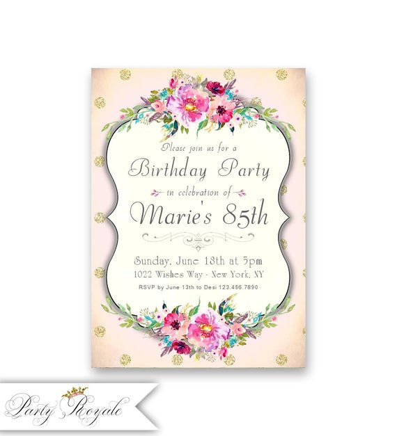 Best ideas about 85th Birthday Invitations . Save or Pin Women s 85th Birthday Invitations Milestone Birthdays of Now.