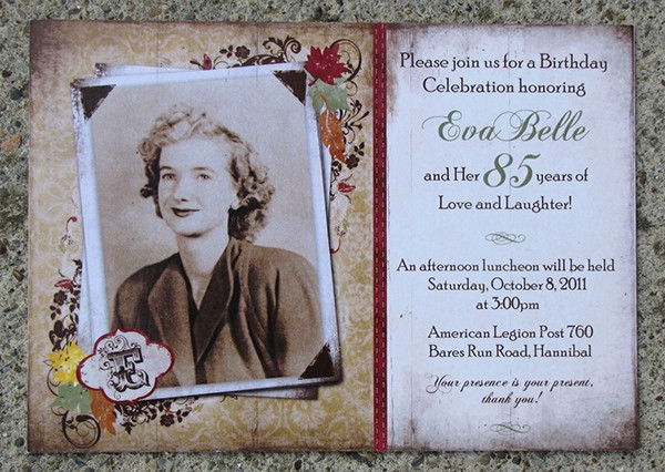 Best ideas about 85th Birthday Invitations . Save or Pin 85th Birthday Invitation on Behance Now.