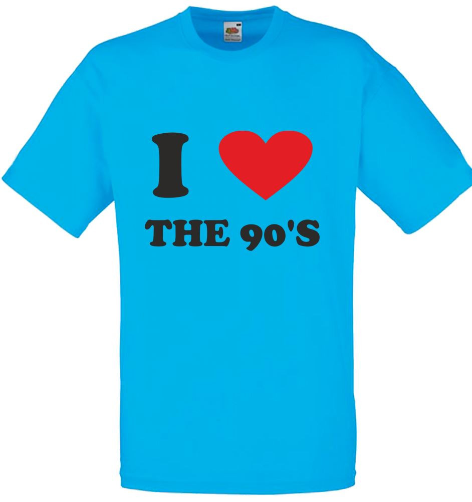 Best ideas about 90'S Mens Hairstyles . Save or Pin I Love heart the 90 S Mens Printed T Shirt Now.