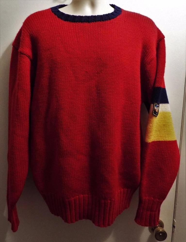 """Best ideas about 90'S Mens Hairstyles . Save or Pin rare Vintage 90 s Ralph Lauren Polo """"UniCrest"""" red Now."""