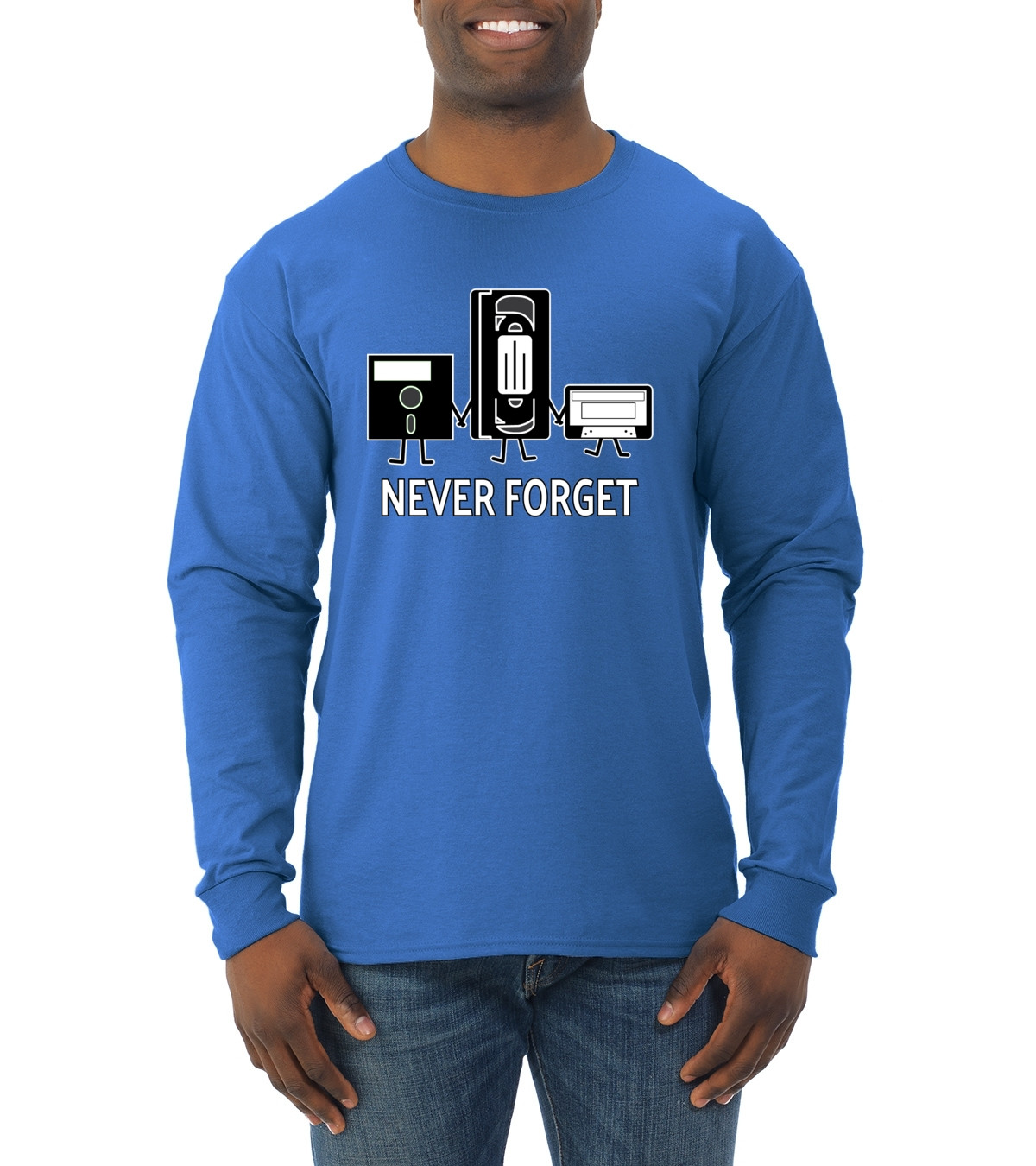 Best ideas about 90'S Mens Hairstyles . Save or Pin Never For Funny 90 s Nostalgia Mens Long Sleeve T Shirt Now.