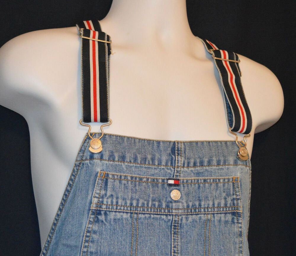Best ideas about 90'S Short Hairstyles . Save or Pin Vtg 90 s TOMMY HILFIGER Baggy Denim Short Overalls Men Now.