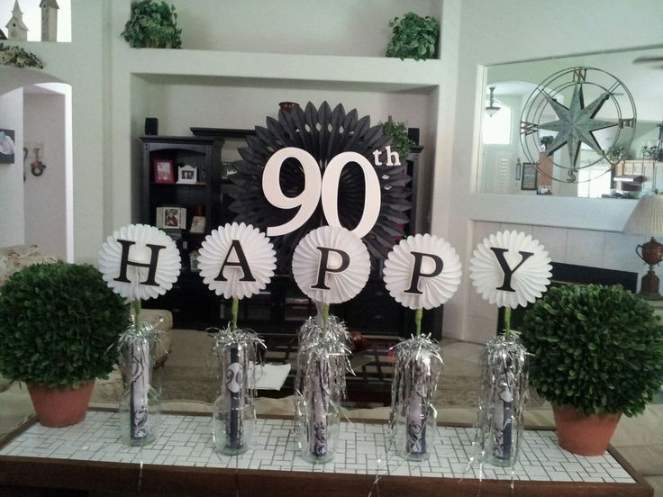Best ideas about 90th Birthday Party Ideas Decorations . Save or Pin 25 Best Ideas about 90th Birthday Decorations on Now.