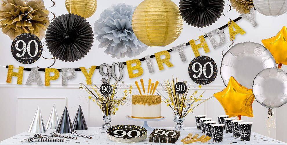 Best ideas about 90th Birthday Party Ideas Decorations . Save or Pin Sparkling Celebration 90th Birthday Party Supplies Party Now.