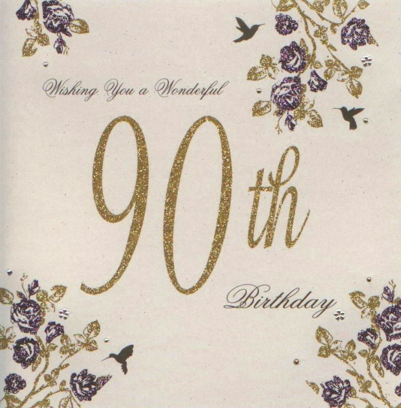 Best ideas about 90th Birthday Wishes . Save or Pin MojoLondon Wonderful 90th Birthday Card by Five Dollar Now.