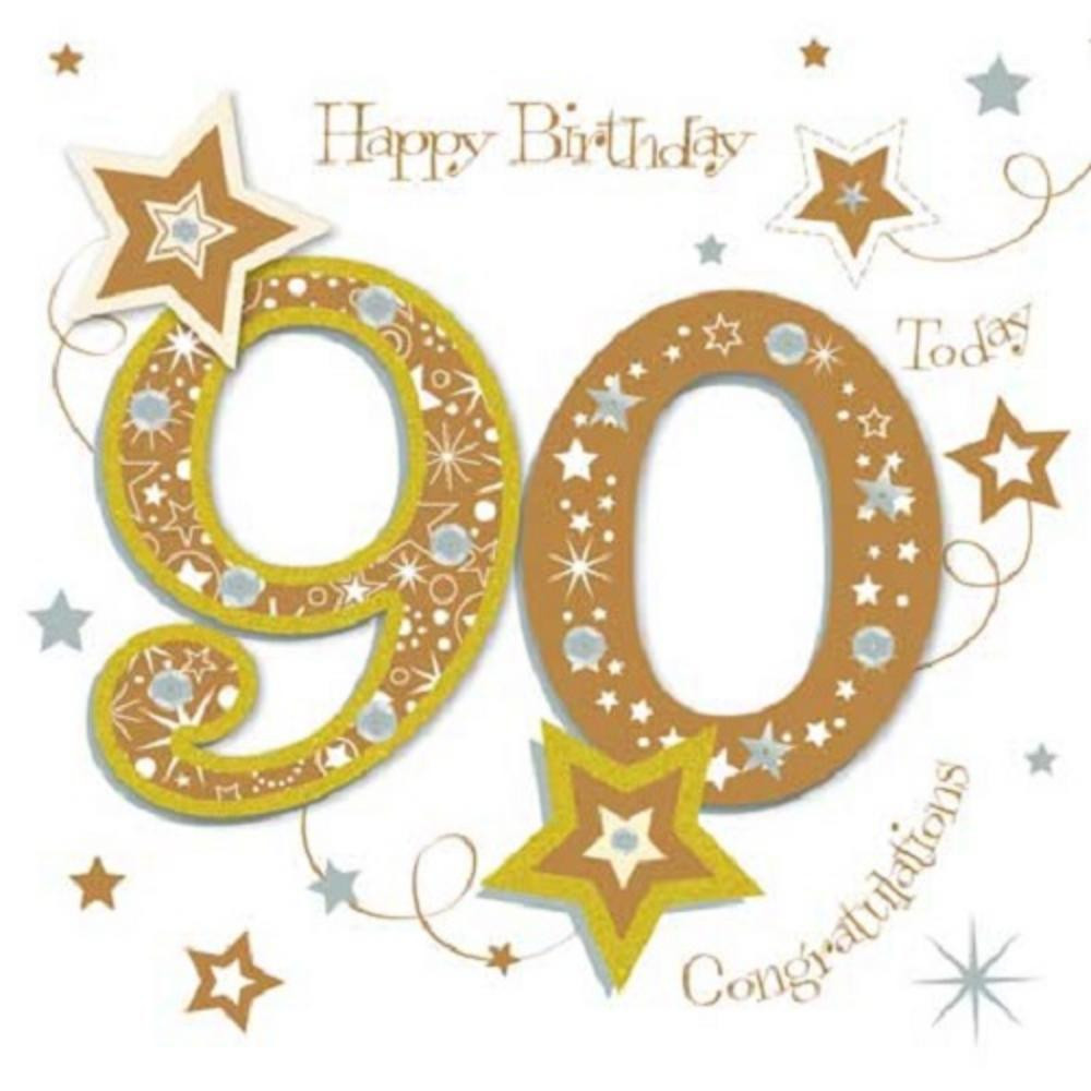 Best ideas about 90th Birthday Wishes . Save or Pin Happy 90th Birthday Greeting Card By Talking Now.