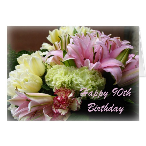 Best ideas about 90th Birthday Wishes . Save or Pin Happy 90th Birthday Greeting Card Now.