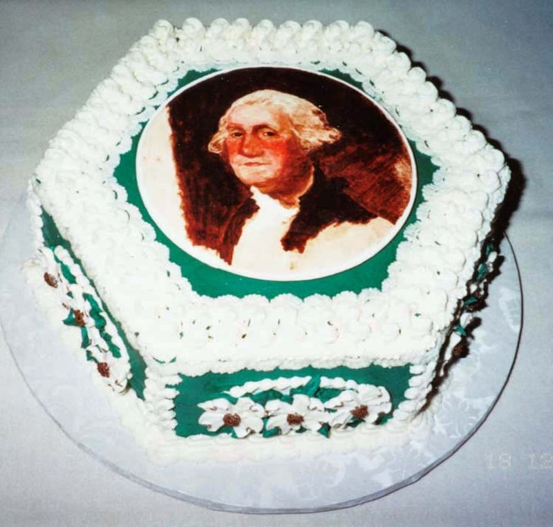 Best ideas about A Birthday Cake For George Washington . Save or Pin George Washington Cake Now.