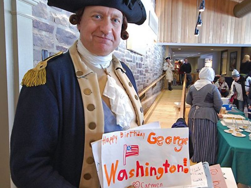 Best ideas about A Birthday Cake For George Washington . Save or Pin George Washington Impersonator To Cut Cake With Sword At Now.