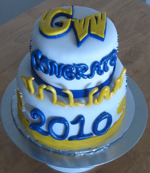 Best ideas about A Birthday Cake For George Washington . Save or Pin Sweet Cakes DC GWU Graduation Cake Now.