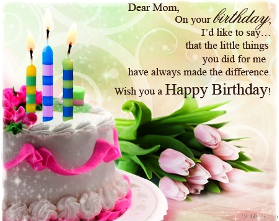 Best ideas about A Birthday Wish . Save or Pin 50 Birthday Wishes For Mom Now.