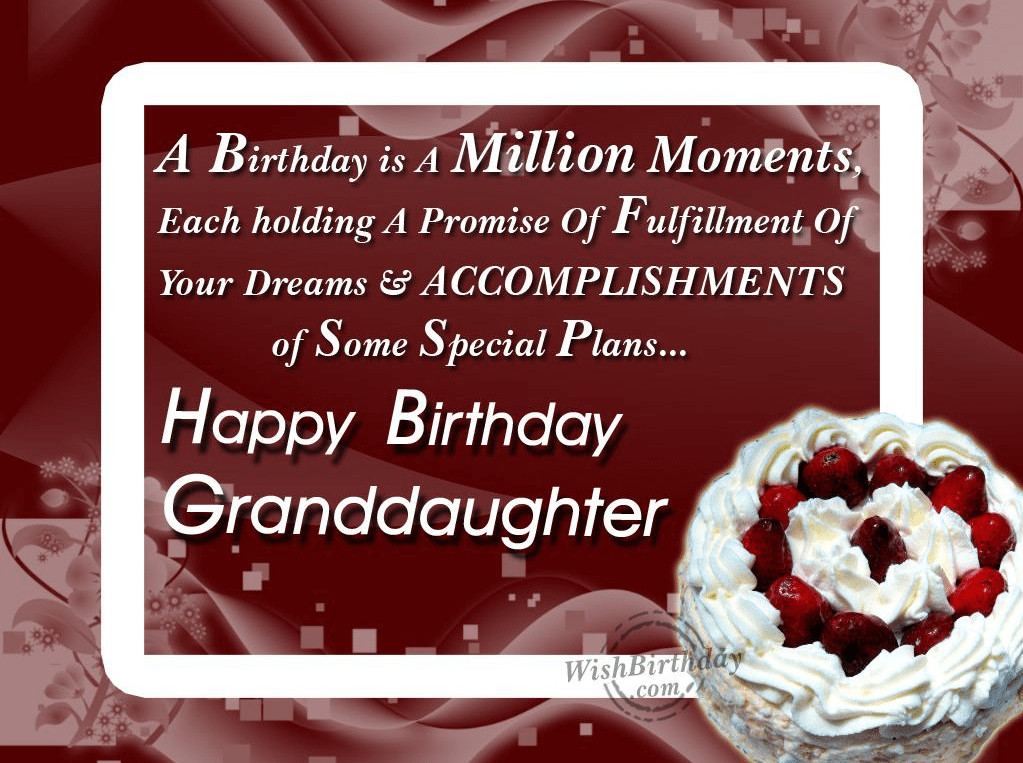 Best ideas about A Birthday Wish . Save or Pin 50 Happy Birthday Wishes For Grand Daughter Ever Now.