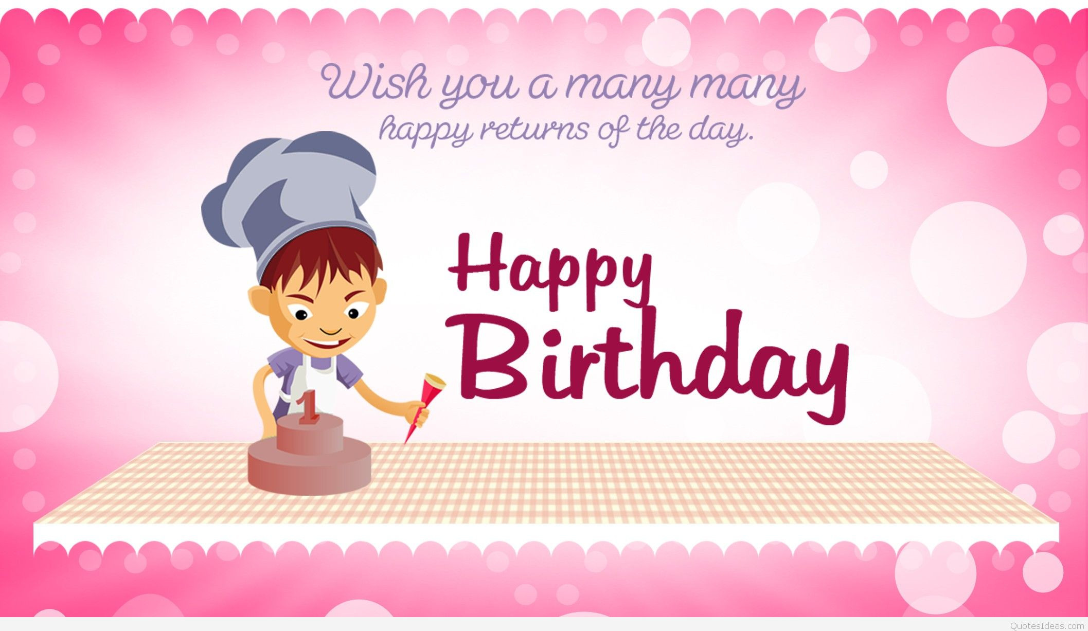 Best ideas about A Birthday Wish . Save or Pin New Happy birthday wishes for kids with quotes wallpapers Now.
