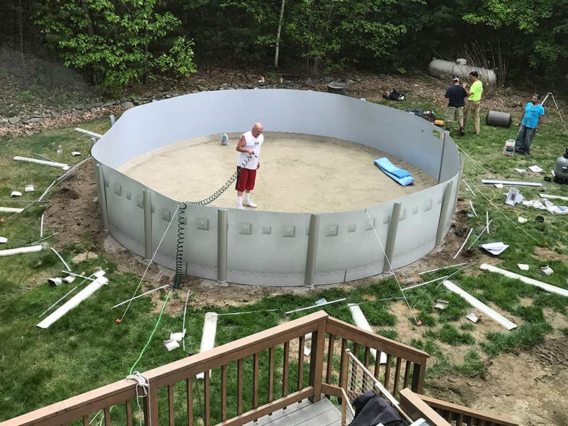 Best ideas about Above Ground Pool Installation . Save or Pin Ground Pools Spartan Concrete Services Inc Now.