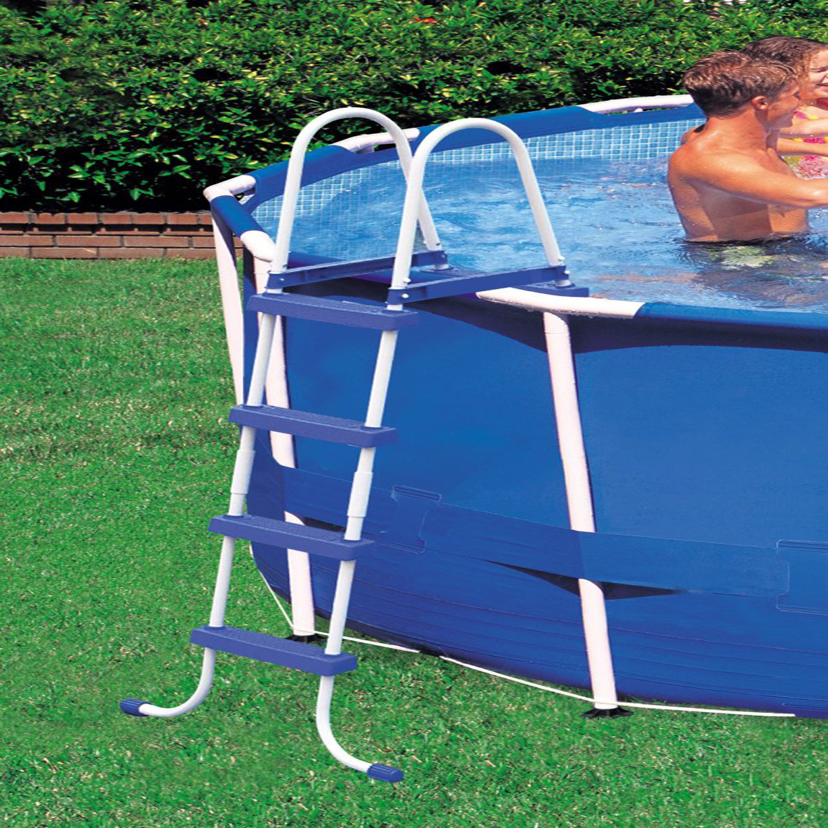 Best ideas about Above Ground Pool Ladders . Save or Pin Intex Ground Swimming Pool Ladder w Barrier 48 Now.