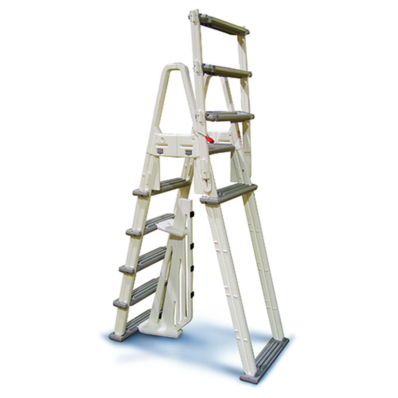 Best ideas about Above Ground Pool Ladders . Save or Pin A Frame Ground Pool Adjustable Ladder Confer Now.