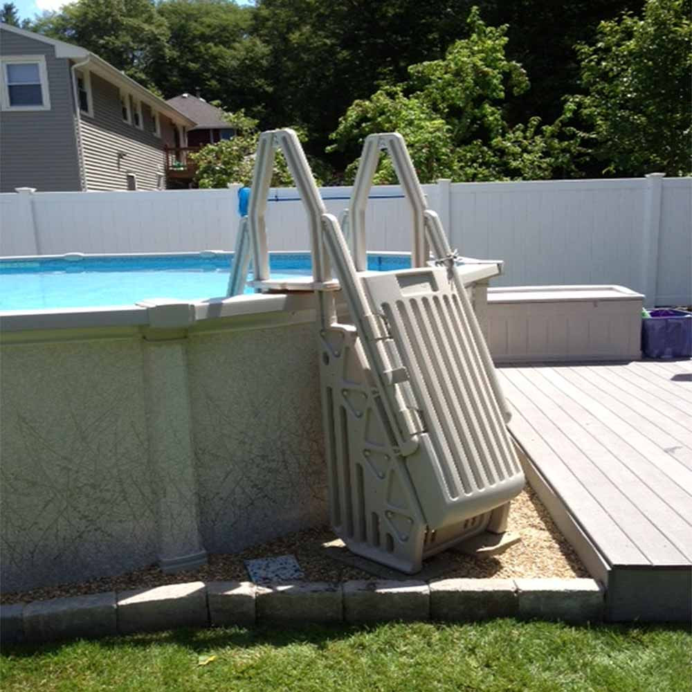 Best ideas about Above Ground Pool Ladders . Save or Pin Neptune Step Ladder Ground Pool Entry System Now.